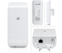 UBNT UBIQUITI NANOSTATION (LOCOM2) 2.4GHZ 2x2 MIMO AIRMAX 60 DER.8dBi OUTDOOR WIRELESS ACCESS POINT