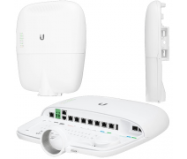 UBNT UBIQUITI (EP-R8) 8 PORT 10/100/1000 600MHZ 2xSFP POE OUTDOOR ROUTER