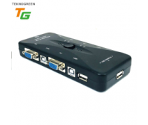 TEKNOGREEN TVS-344 4PC 1KVM KONTROL MANUEL USB KVM SWITCH