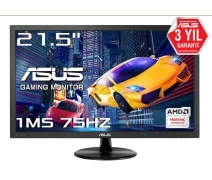 21.5 ASUS VP228QG 1MS 75Hz GAMİNG FULL HD HDMI DP VGA