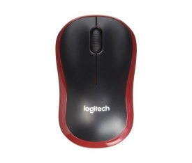 LOGITECH M185 NANO MOUSE KABLSZ BLACK/RED (02237)