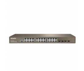TENDA TEG3224P 24PORT GIGABIT 24 PORT POE SWITCH x4SFP (370W)
