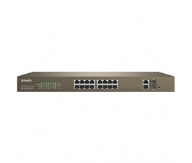 TENDA TEF1218P-16-250W 16 PORT 10/100 2 PORT GIGABIT 16 PORT POE SWITCH 1 SFP (250W)